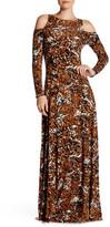 Rachel Pally Long Sleeve Cold Shoulder Print Dress