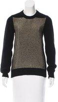 Proenza Schouler Metallic-Accented Rib Knit Sweater