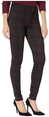 Liverpool Madonna Leggings in Tartan Plaid Knit (Red/Black) Women's Casual Pants
