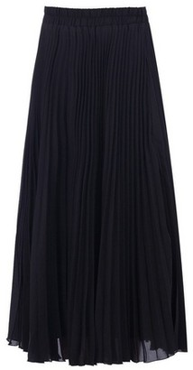 Dorothy Perkins Womens Jolie Moi Black Crepe Pleated Midi Skirt, Black