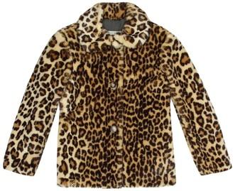 Bonpoint Leopard-print faux fur coat