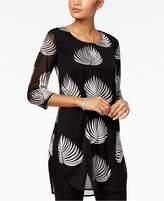 Alfani Embroidered Tunic, Created for Macy's