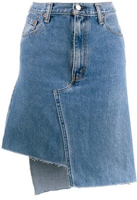 Ji Oh Asymmetric Denim Skirt