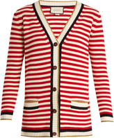 Gucci Striped cotton-blend cardigan
