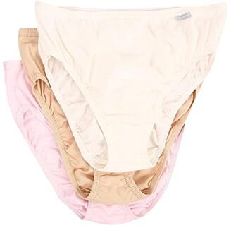 Jockey Plus Size Elance(r) French Cut 3-Pack (Ivory/Peach Powder/Rose Blush) Women's Underwear