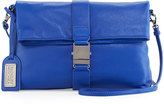 Badgley Mischka Jeyne Leather Crossbody Bag, Cobalt