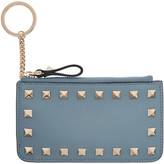 Valentino Blue Rockstud Coin Pouch