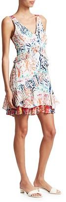 Tanya Taylor Eva Botanical Tiered Ruffle Dress