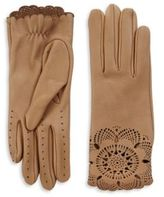 Burberry Primrose Leather Lace Gloves