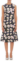 Marni Women's Floral Cotton A-Line Dress-DARK GREEN