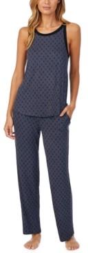 DKNY Printed Tank Top & Pants Pajama Set