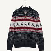 Fat Face Easton Stag Half Neck Christmas Jumper