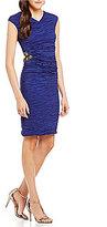 Calvin Klein Crushed Taffeta Side Detail Rouched Social Dress