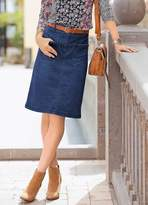 Together Plait Denim Skirt