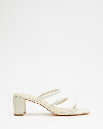 Atmos & Here Atmos&Here - Women's Neutrals Heeled Sandals - Mia Leather Heels - Size 6 at The Iconic