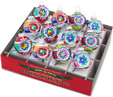 Christopher Radko Christmas Confetti Reflector Rounds Boxed Ornaments, 12-Pc. Set