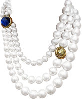 One Kings Lane Vintage Givenchy 3-Strand Pearl Necklace