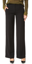 Alexander Wang Crepe Wide Leg Trousers