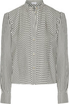 Loewe Pintucked Striped Cotton-poplin Shirt - Ecru