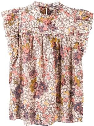 Ulla Johnson Floral-Print Short-Sleeve Blouse