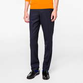Paul Smith Men's Tapered-Fit Navy Wool-Hopsack Trousers