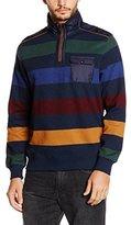 Daniel Hechter Men's Troyer Stripe Sweat Sweatshirt,M