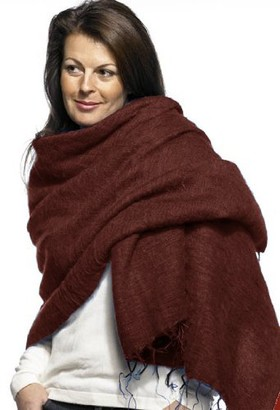Cool Trade Winds Scarf / Wrap - Chocolate Brown / Brown - 100% Fair Trade Yak Cotton Shawl