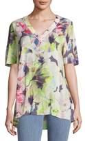 Basler Short-Sleeve Floral Top