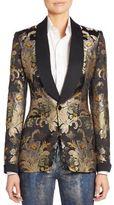 Ralph Lauren Sawyer Brocade Silk Jacket