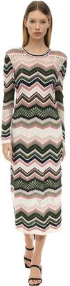 M Missoni Zig Zag Wool Blend Knit Dress