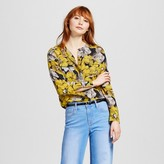 Who What Wear Women's Collarless Button Up Blouse