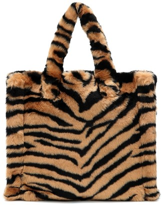 Stand Studio Lolita tiger-print faux fur tote