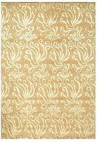 Martha Stewart Seaflora Sand Silk/ Wool Rug (5'6 X 8'6)
