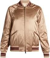 Valentino Rockstud-embellished satin bomber jacket
