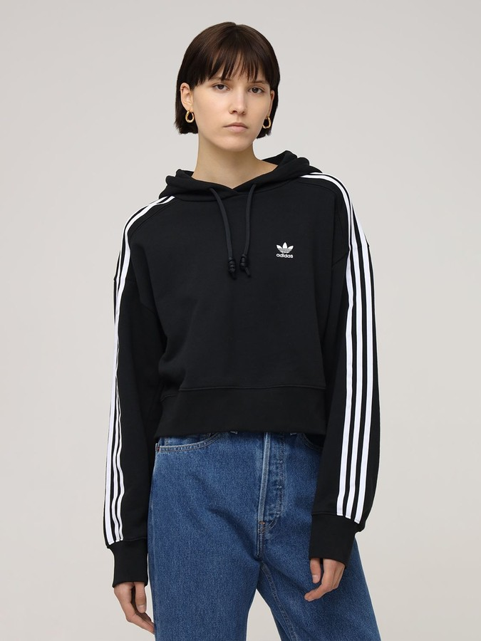 Thumbnail for your product : adidas Logo Cropped Hoodie