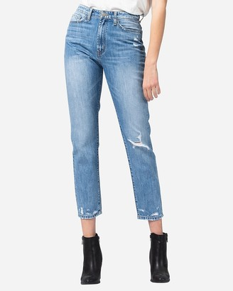 Express Flying Monkey Super High Waisted Ripped Mom Jeans