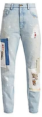 Monse Women's Botanical Patch Paint-Splatter Jeans - Size 0