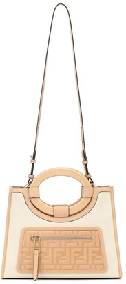 Fendi Runaway Small leather-trimmed tote