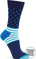 Happy Socks Stripes And Dots Socks- Blue Multicolour