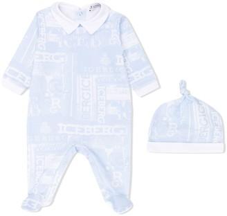 Iceberg Kids Logo Pattern Pajama Set