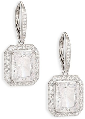 Adriana Orsini Pave Drop Earrings