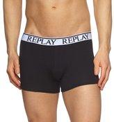 Replay Men's Retro Noos Plain Boxer Shorts,X-Large