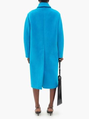 Prada Single-breasted Cotton-blend Corduroy Coat - Blue
