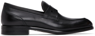 Ermenegildo Zegna Black Leather Marcello Moccasin Loafers