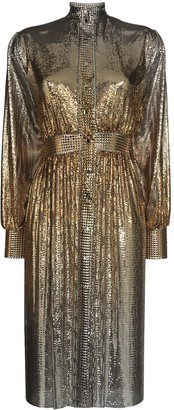 Paco Rabanne Degraded Chainmail Shirt Dress
