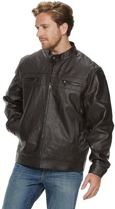 Men's Vintage Leather Moto Jacket