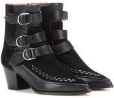 Isabel Marant Dickey suede and leather ankle boots