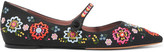 Tabitha Simmons Hermione Fest Embroidered Canvas Point-toe Flats - IT35