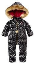 Juicy Couture Dot Snowsuit With Faux Fur Hood