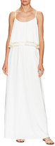 T-Bags LosAngeles Gathered Overlay Scoopneck Maxi Dress